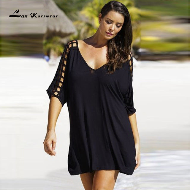 Summer Dresses V-neck Women Beach Dress Casual Mini Dress Clothing