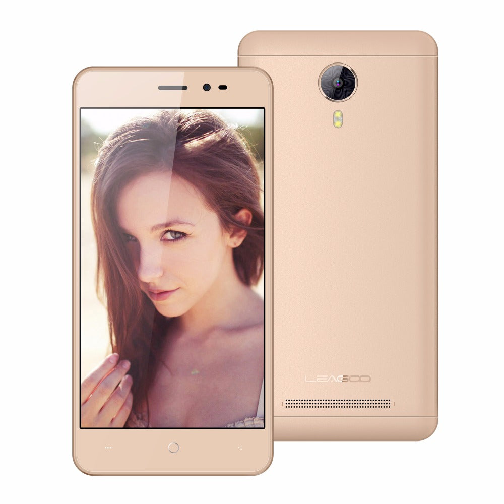 LEAGOO Z5C Mobile Phone 5.0 Inch Android 6.0 SC7731c Quad Core 1GB RAM 8GB ROM 5.0MP 2300mAh Dual SIM WiFi GPS 3G Smartphone