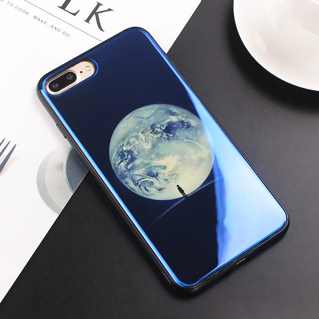 e880234fff3ae7 JAMULAR Electroplate Blue Light Soft Phone Cover for iPhone X 6 6s 7 8