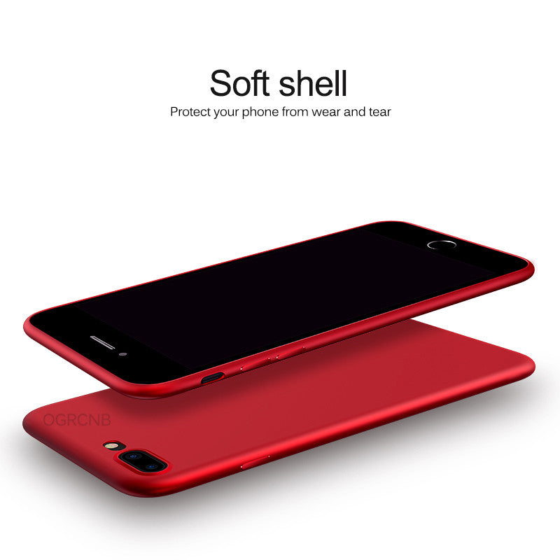 Luxury Back Matte Soft Silicon Case For iPhone 7 Cases 6S 7 8 Plus X Full Cover For iPhone 7 8 Case Plus X Phone Coque Fundas