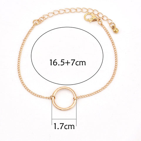 3 Pcs set Women Fashion Punk Bracelet Simple Double Knot Loop Metal Chain Bracelet Bohemian Retro Jewelry Accessories - Style Lavish