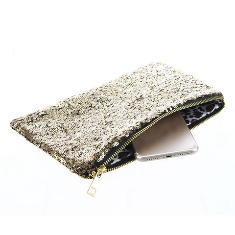 Wallet handbag glitter ball for women gold