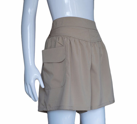 Summer Plus size Short Women  Wide Leg Shorts Casual Loose Khaki High Waist Thin Pants