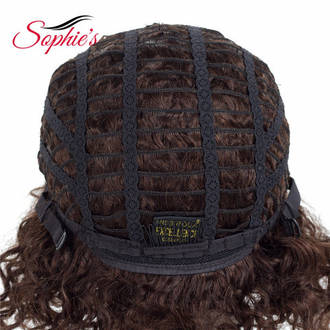 Sophie's Short Human Hair Wigs Non-Remy Human Hair Curly Wigs For Women 100% Human Hair Machine Made No Smell H.ORA 6.75 Inch