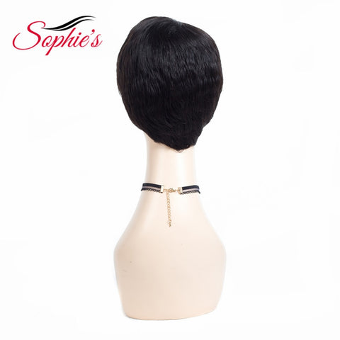 Sophie's Short Human Hair Wigs For Women Brazilian Natural Wave Non-Remy Human Hair No Smell H. ANNA Wigs Bouncy 10inches 61g