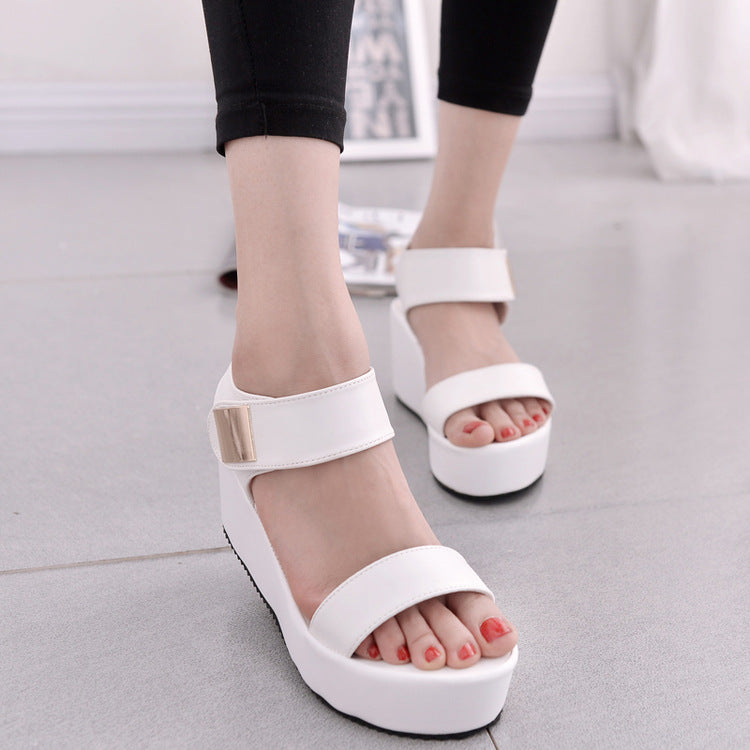 Platform Woman High Shoes Sandals Summer With Heel Wedge Ow8nPkN0X