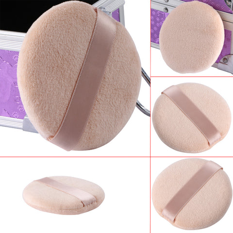 5PCS Women Facial Face Body Beauty Flawless Smooth Cosmetic Foundation Powder Puff Makeup Sponge Puff Size: 8cm*2cm - Style Lavish