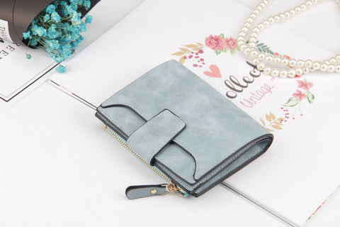 Leather Women Wallet Hasp Small  Slim Coin Pocket Purse Women Wallets Cards Holders Designer Purse