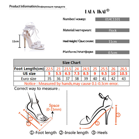 Cross Bandage High Heels Sandals Women Pumps Thin Heel Ruffle Lace-Up Summer Shoes Fashion - Style Lavish