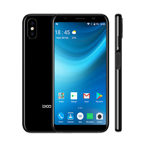 2018 New DOOGEE X55 Smartphone 5.5'' 18:9 HD MTK6580 Quad Core 16GB ROM Dual Camera 8.0MP Android 7.0 2800mAh Side Fingerprint - Style Lavish