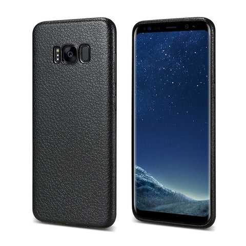 Ultra Thin Leather Skin Case For Samsung S8 S9 Plus Business Style Case For Samsung Galaxy S8 S9 Plus Back Protector