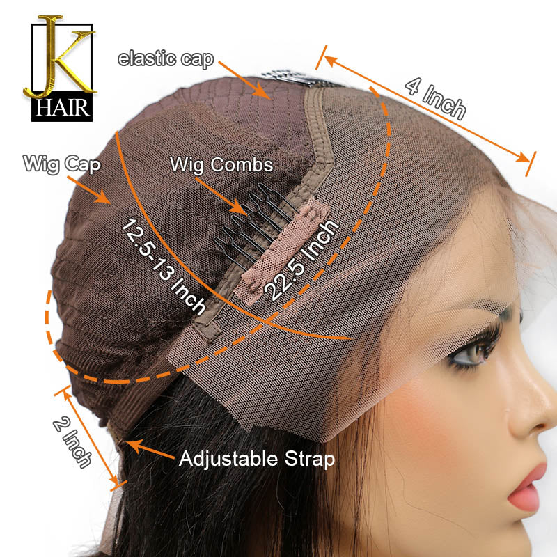 Glueless Lace Front Human Hair Wigs For Women Black Color Blunt Bob Wi
