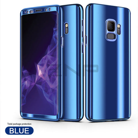 360 Degree Plating Mirror Case For Samsung S9 S8 Plus S7 Edge Body Hard Full Cove For Samsung Note 8 S9 S8 Plus Phone Cases - Style Lavish
