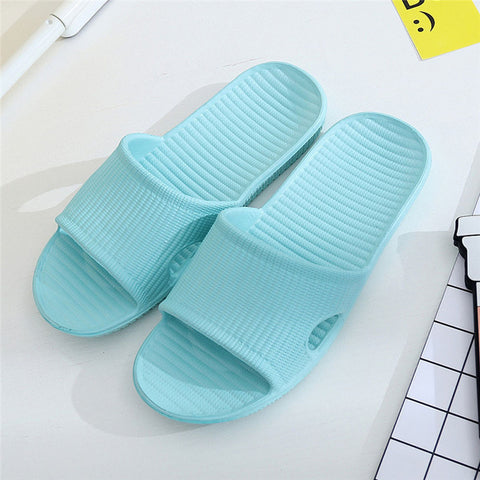 Women  Slippers Summer Floor Skid Proof Home Floor Slippers Indoor Family Stripe Flat Bathroom Bath Sandal Slippers