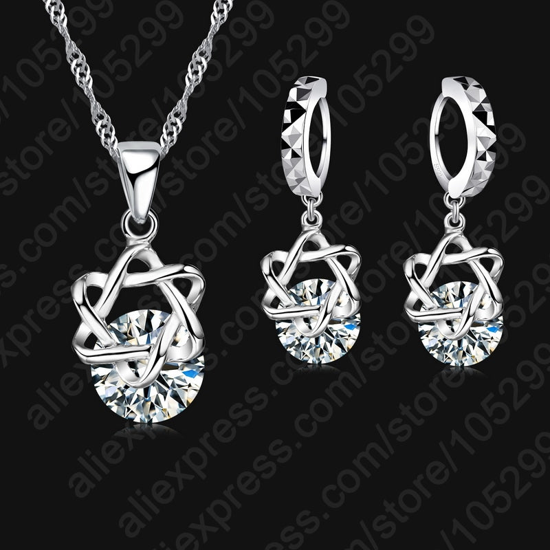 JEXXI Exquisite Jewelry Sets CZ Zircon Necklace Earrings Gift For Women