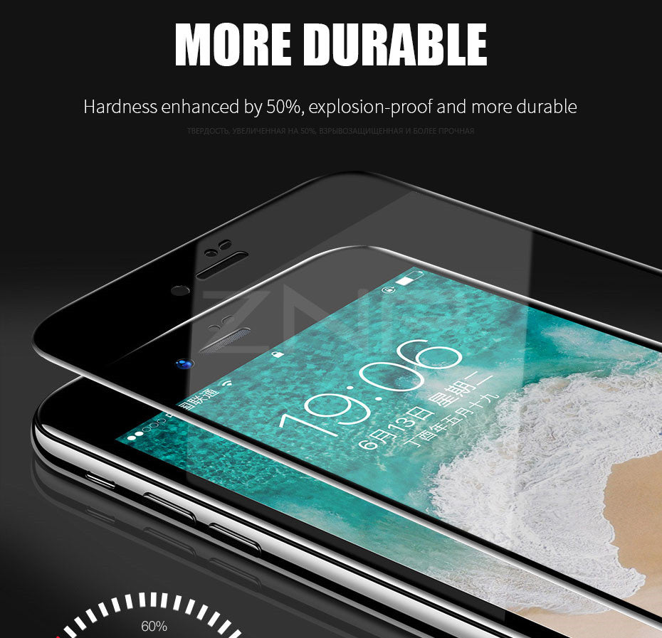 Full Cover 6d Edge Tempered Glass For Iphone X 7 8 6 6s Plus Screen Pr Peonia Electroplating Transparent Ultrathin Case Samsung J7 Pro 2017 Protector
