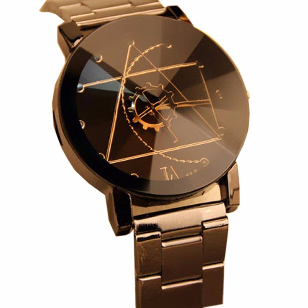 Luxury Watch Fashion Stainless Steel Watch for Man Woman Quartz Analog Wrist Watch