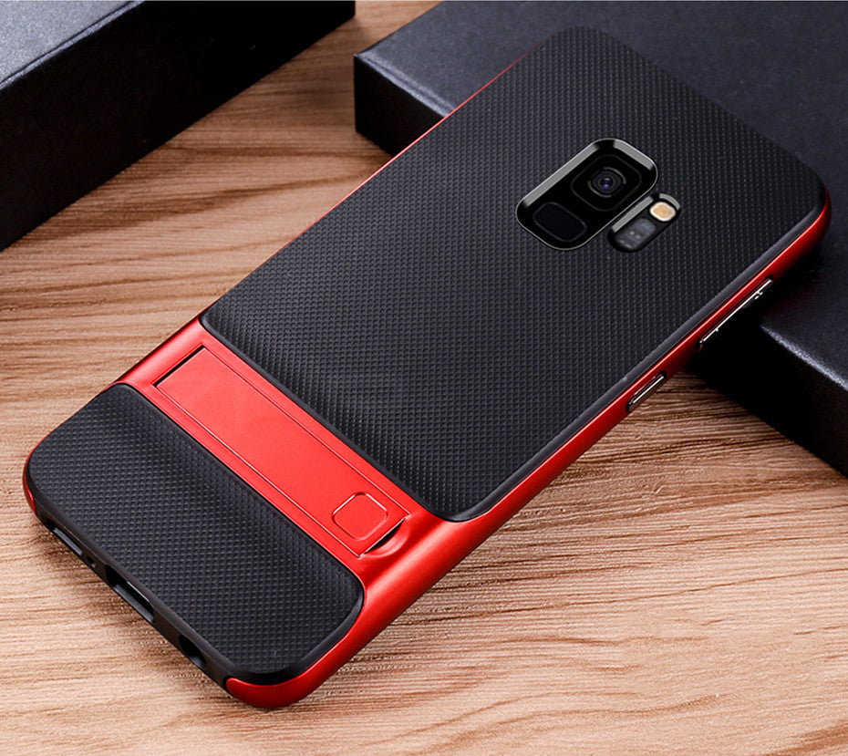360 Full Cover Protective Case For Samsung Galaxy S9 S8 Plus PC + TPU Shock Proof Cover For Samsung Note 8 Kickstand Phone Case - Style Lavish