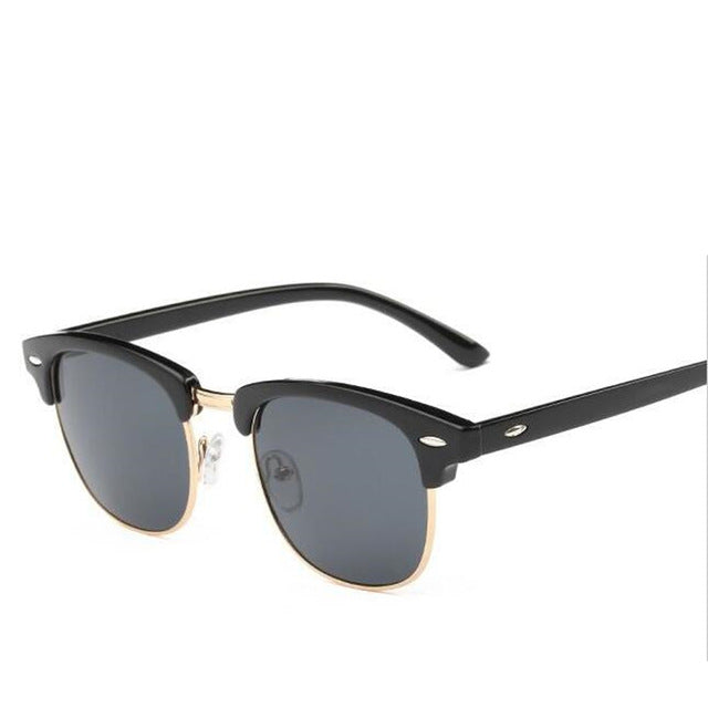 0a7ddd570f6 Classic Men Half Frame Polarized Sunglasses Women Brand Designer Vintage  Mirror Female Sunglass Male ...