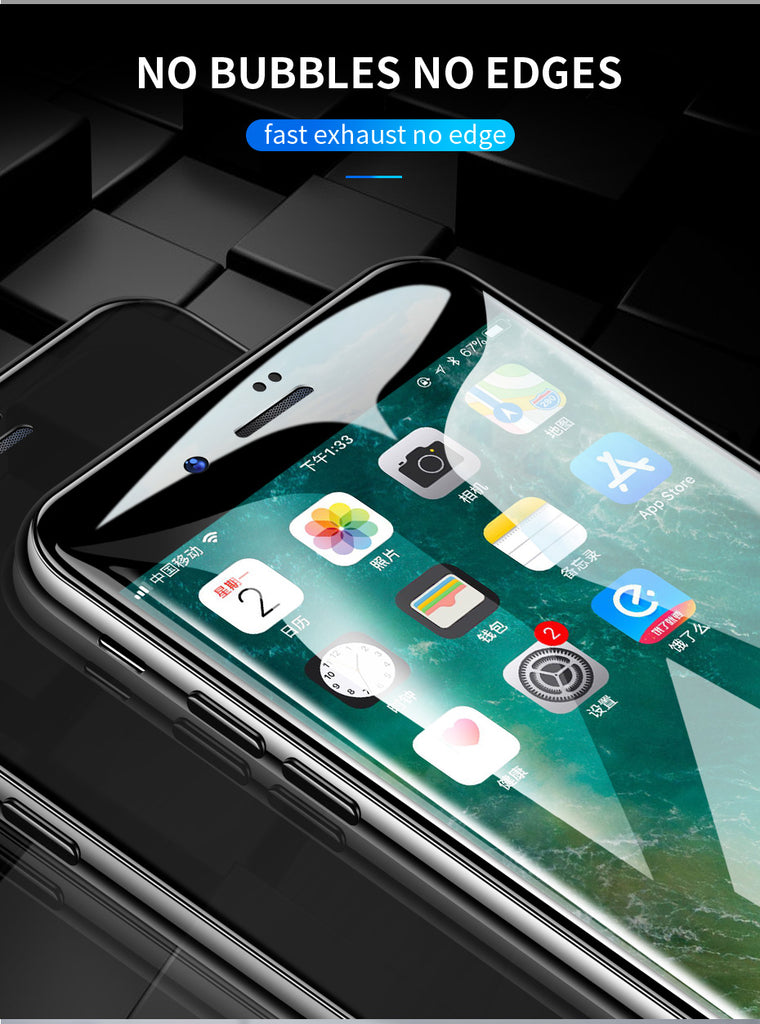 4D Glass on the For iPhone 7 Screen Protector Curved Edge Full Cover Protective Glass on the For iPhone 6 X 10 6 s 7 8 Plus - Style Lavish