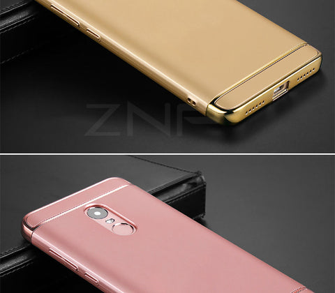 Luxury PC Hard Shockproof Cases For Xiaomi Redmi Note 4 Pro Note 4X For Redmi Note 4 Global Version Electroplate Phone Cover