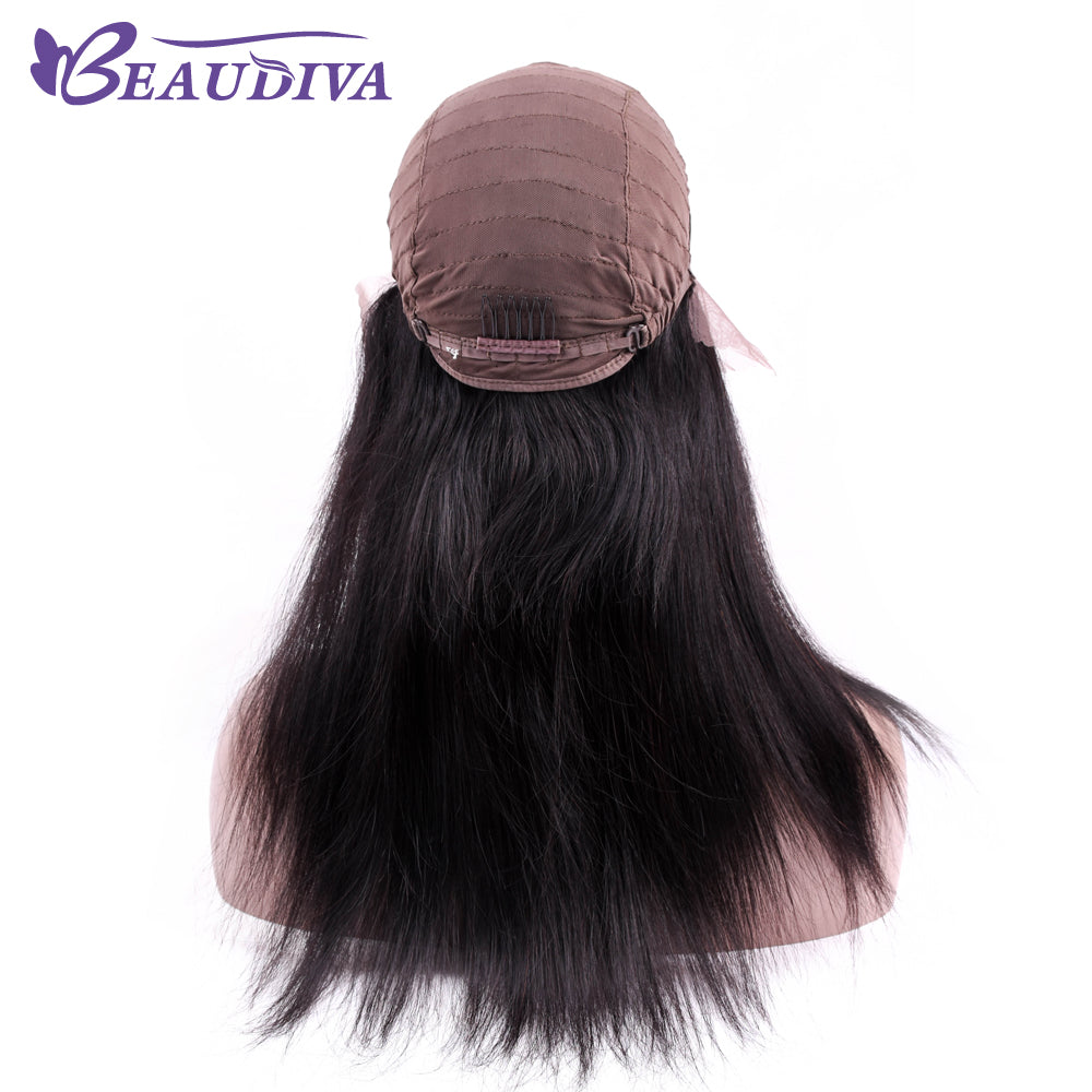 Beaudiva Straight Peruvian Straight Hair Lace Front Human Hair Wigs With Baby Hair Natural Color - Style Lavish
