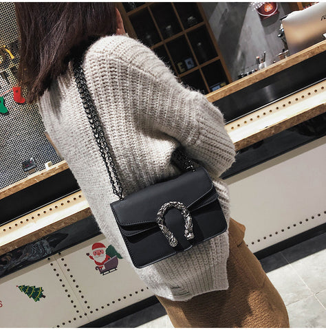 Fashion Women Design Shoulder Bags Diagonal Quality Leather Lady Handbags Vintage Chains Small Bag
