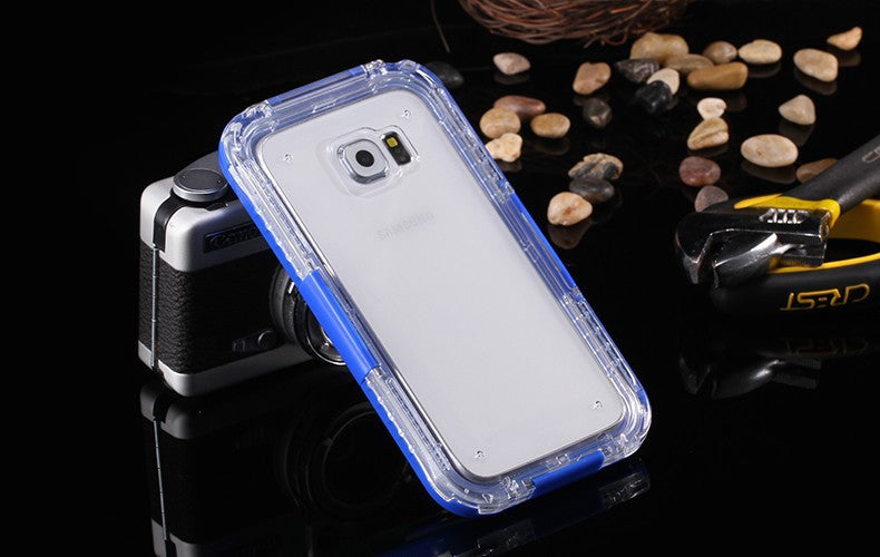S6 Edge Swimming Waterproof Cases For Samsung Galaxy S6 Diving Underwater Cover for S7 S7 edge Case 5.1inch Phone