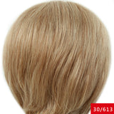10 Inch Short Wigs for American Women Black Short Mixed Hair Wig Perruque Short Natural Wave Hair with Combs Inside - Style Lavish