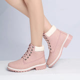 Autumn Women Boots Platform  Ankle Boots Soft Leather Lace up Ladies Shoes - Style Lavish