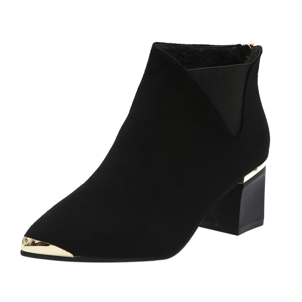 bb72e8cf302a ... Fashion Women Boots High Heels Women Ankle Boots Sexy Pointed Toe  Martin Boots ...