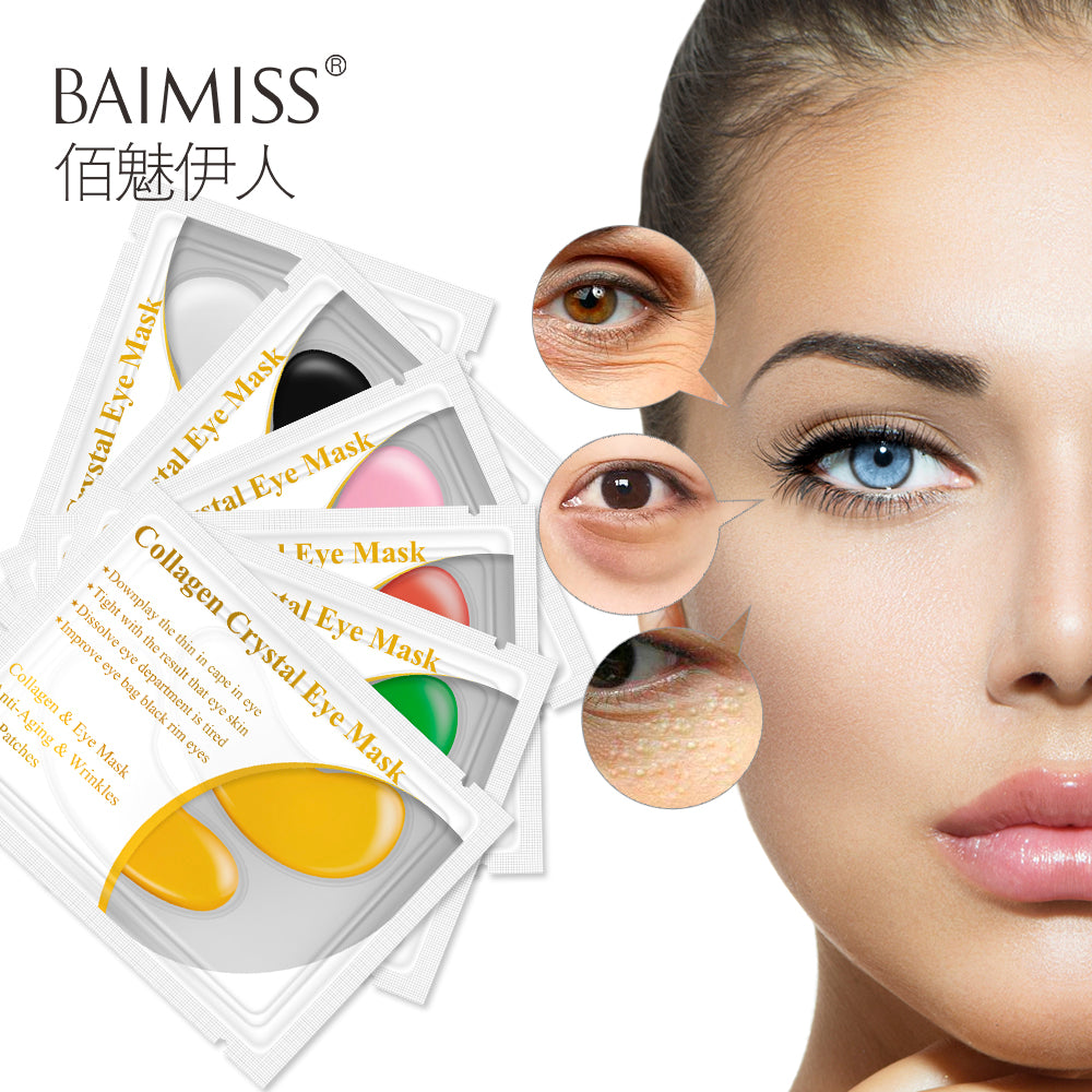 5pair=10pcs 24K Gold Serum Eye Mask Anti-Aging Anti Wrinkle Remove Dark Circle Collagen Eye Patches Skin Care Cream - Style Lavish