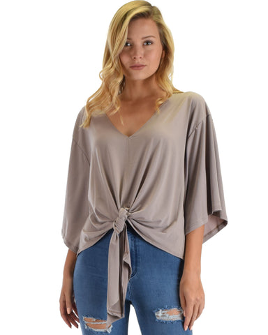 Sea Day Front Tie Top