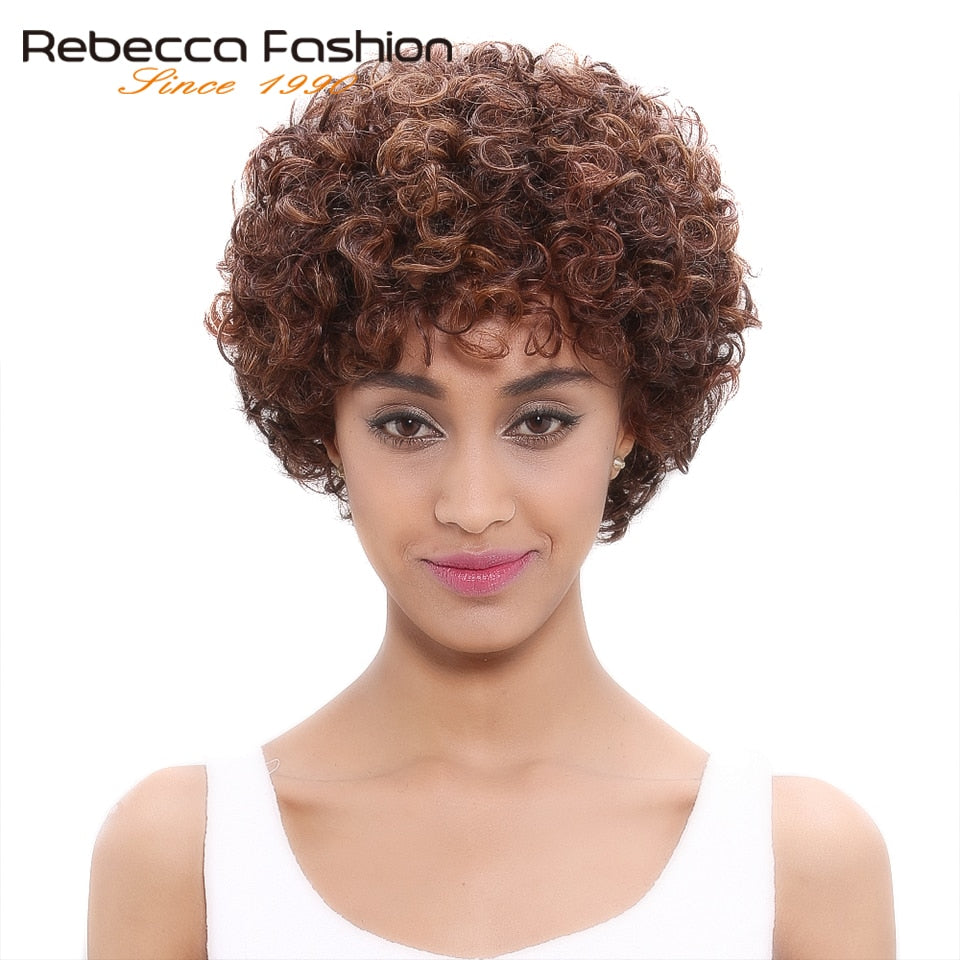 Short Loose Curly Wigs For Black Women Peruvian