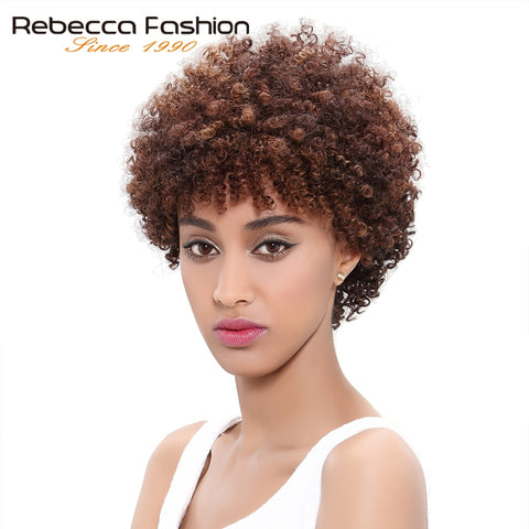 Human Hair Wigs Brazilian Afro Kinky Curly Hair Wigs Short Human Hair Wigs For Black Women Wholesale Machine Made