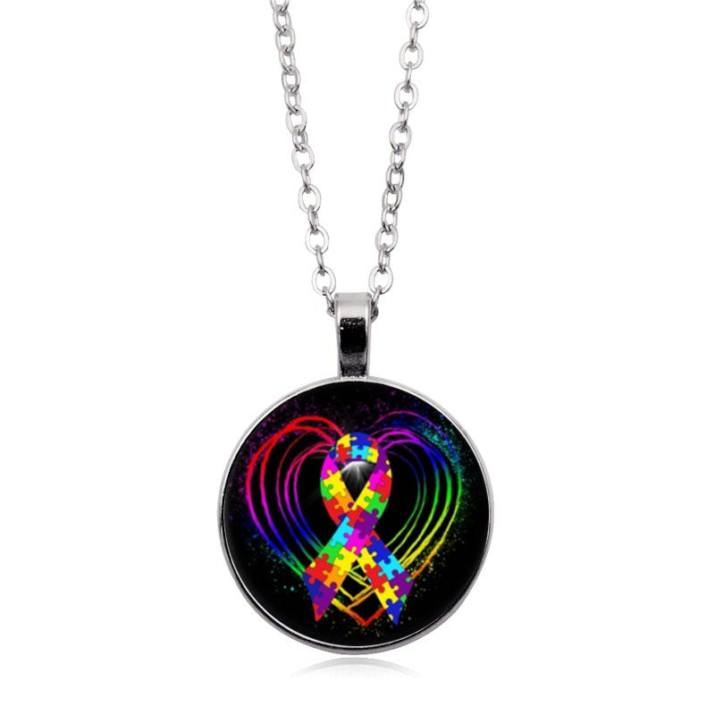 Autism Definition Necklace Autism Awareness Necklace Autistic Necklace Humans Full of Life and Love Jewelry Necklace