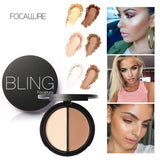 New Makeup Blush Bronzer Highlighter 2 Diff Color Concealer Bronzer Palette Comestic Make Up by Focallure