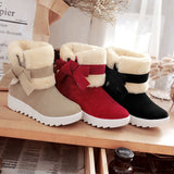 Women's Boots Bowknot Winter Boots Warm Ankle Boots Warm Winter Shoes