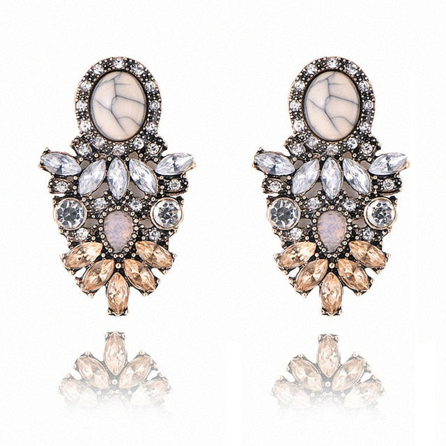 90b1d8531 ... Fashion Stud Earrings For Women Golden Color Round Ball Geometric  Earrings For Party Wedding Gift Ear ...