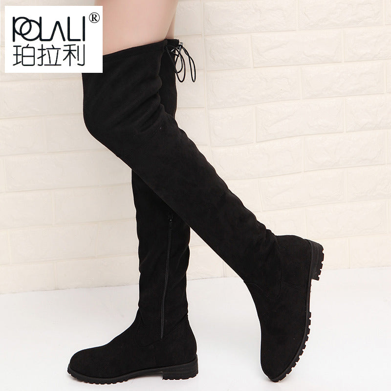 Thigh High Boots Female Winter Boots Women Over the Knee Boots Flat Stretch Sexy Fashion Shoes