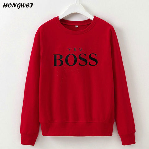 Women Sweatshirts Ladies Causal Letter BOSS Printed Hooded Sweatshirt Long Sleeve Pullover Tops