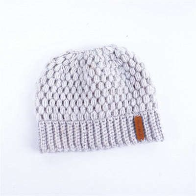 3070720208966 ... Ponytail Beanie Winter Hats For Women Crochet Knit Cap Skullies Beanies  Warm Caps Knitted Stylish Hat ...