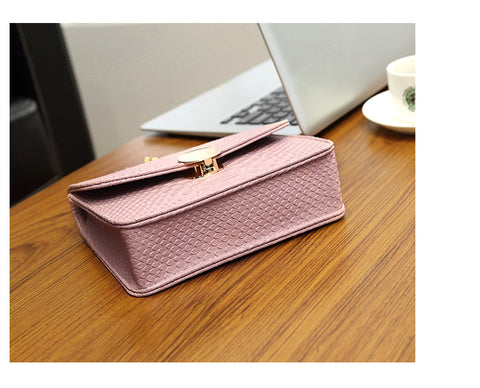 Women Handbag Messenger Shoulder Bag Alligator Crocodile Leather Mini Small Women Crossbody bag Chain