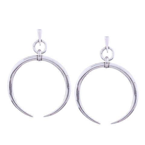 1 Pair Fashion Women Thin Round Big Large Dangle Hoop Loop Earrings Drop