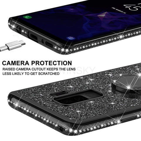 Soft TPU Phone Case For Samsung Galaxy S9 S8 A7 A6 A8 S10 Plus 2018 Note 9 8 A50 S7 Luxury Plating Bling Diamond Silicone Cover