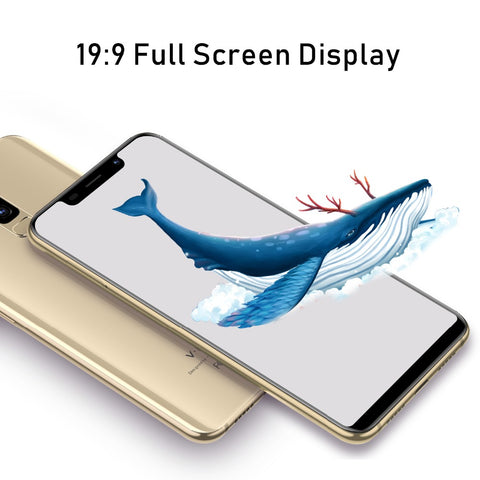 "TEENO VMobile S9 Mobile Phone Android 7.0 5.84"" 19:9 Full Screen 2GB +16GB 13MP Camera 3800mAh Unlocked Quad Core Smartphone"