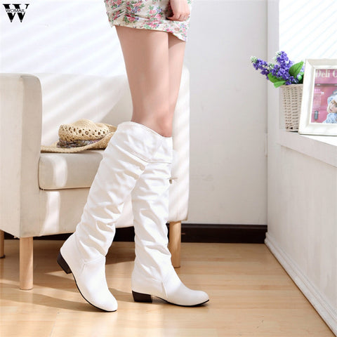 Slim Boots Sexy Over The Knee High Suede Women Snow Boots Fashion Winter Thigh High Boots Woman Shoes
