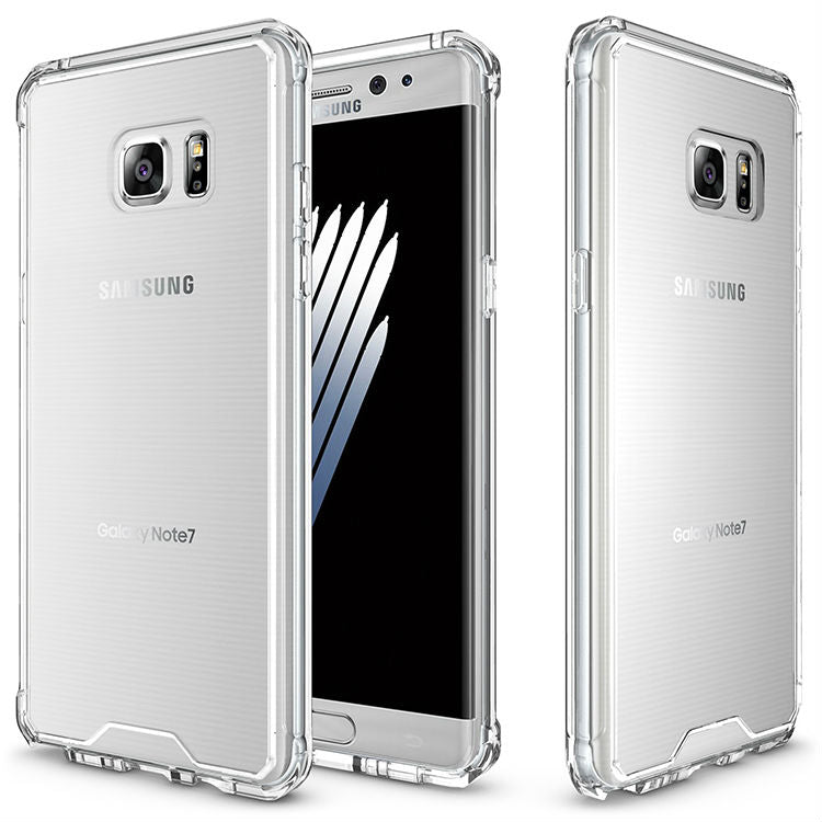 Anti knock Clear Protective Case For Samsung galaxy S7 Edge Case Coque Shockproof Hard back cover For S7 case Fundas - Style Lavish