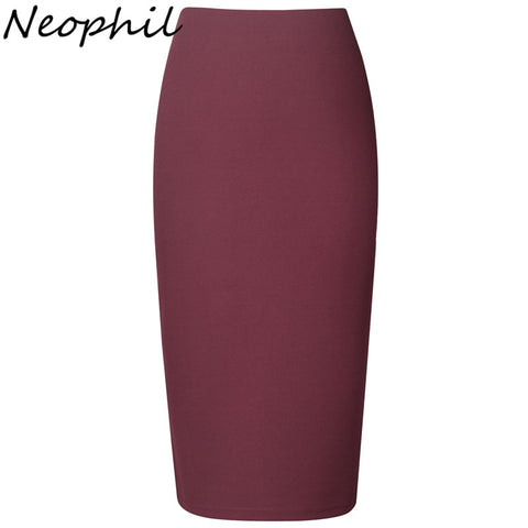 58ac33d434f0ea ... Waist Stretch Slim Casual Pink Black Office Work Wear. $29.99. $37.99.  What's New! Pencil Skirt Women Black Bodycon Bandage Skirts Zipper Lace Up  Split ...