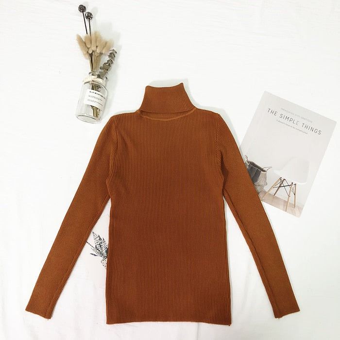 Ongebruikt Womens Sweaters Winter Tops Turtleneck Sweater Women Thin Pullover Jum WY-04